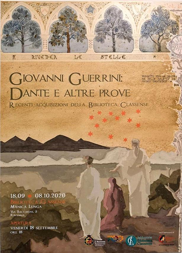 Locandina mostra Giovanni Guerrini Dante e altre prove